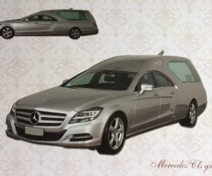 Carro funebre Mercedes CLS Grigio